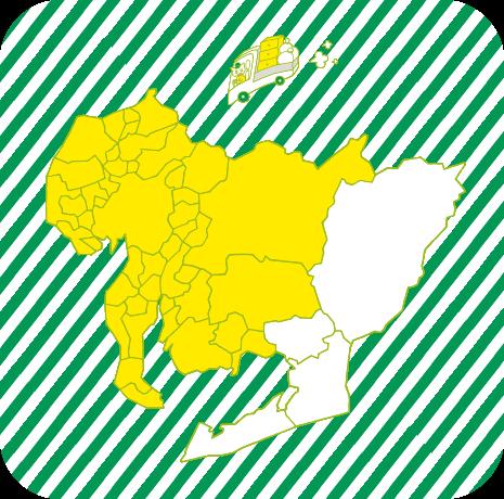 片付けトントン 対応エリアの地図