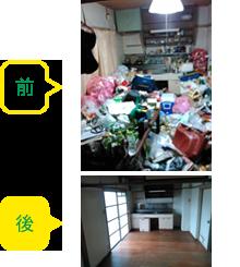 20年間掃除していなかったゴミ屋敷の片付け(豊明市50代男性)