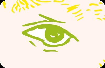 これ以上ないほど近づいた、ゴッホの目のイラスト
