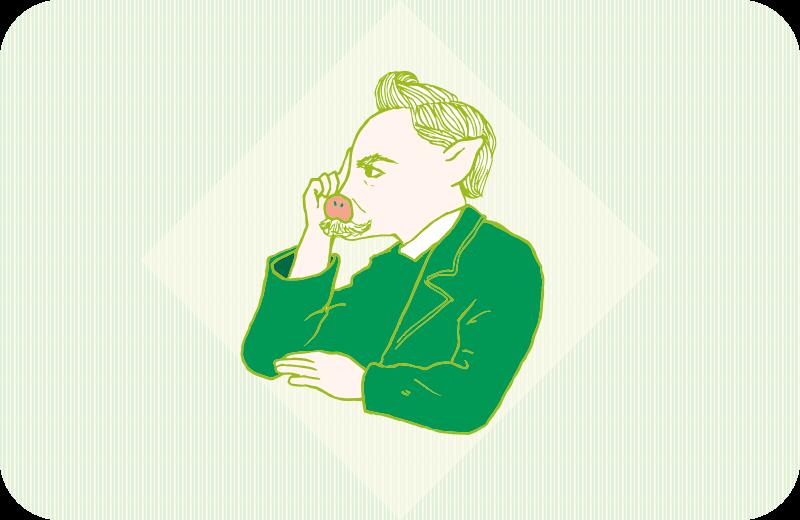 トントン風ニーチェのイラスト