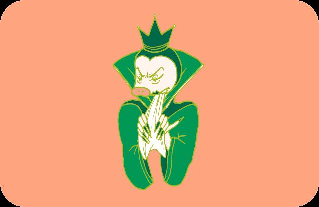 怒りに震える整理王妃のイラスト