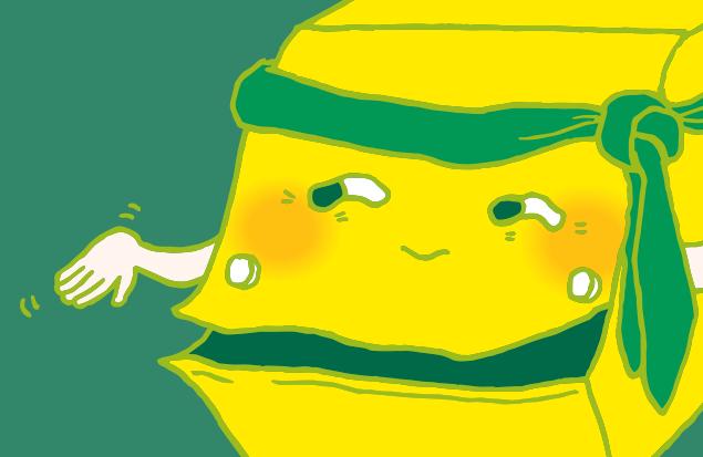 怪しい笑顔を浮かべる不用品回収車のイラスト