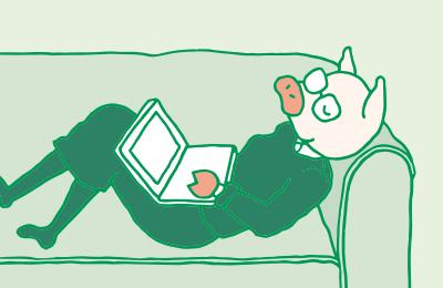 re:LIFE〜リライフ〜の感想をブログにしたためている、みちトンのイラスト