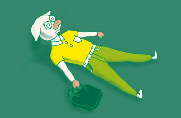 疲れ果てて、家事どころじゃないトン十郎のイラスト