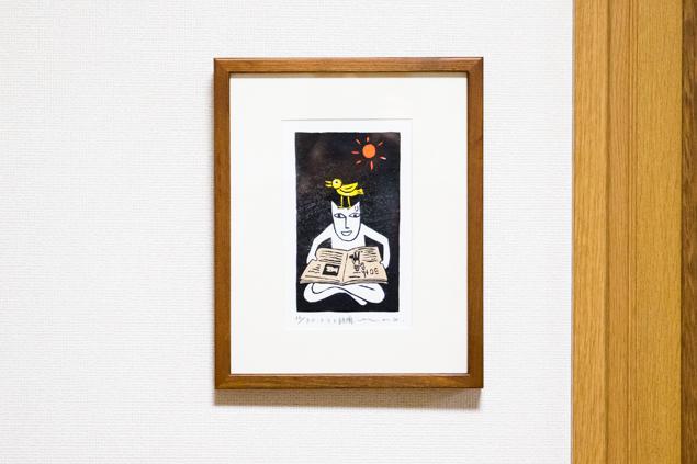 山口マオさんの「マオ猫」版画の写真