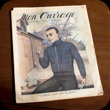 フランスの雑誌「私の手仕事」の表紙の写真