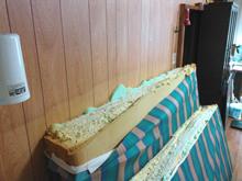 キングサイズベッドのマットレス(切断後)