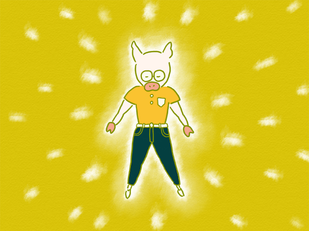 ゆるいパワーを発揮するトン十郎のイラスト