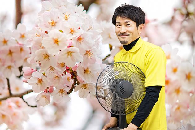 春の「片付け祭り」中のトン太の写真