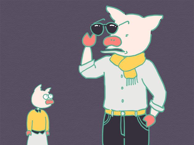 「ちょいワルじじい」になりたいトン十郎のイラスト