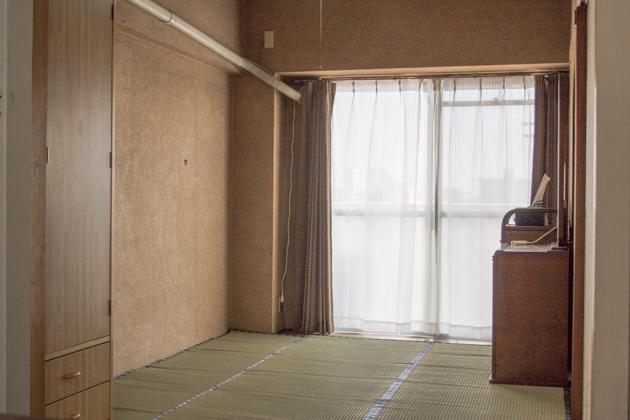 部屋の一角にスペースを作った写真