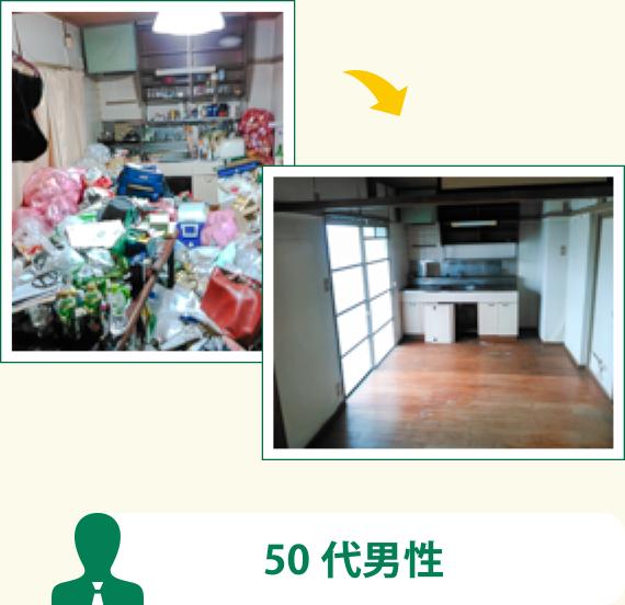 20年間掃除していなかったゴミ屋敷の片付け(50代男性)