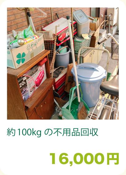 約100kgの不用品回収:16,000円