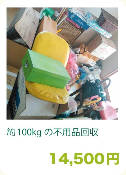 約100kgの不用品回収:14,500円