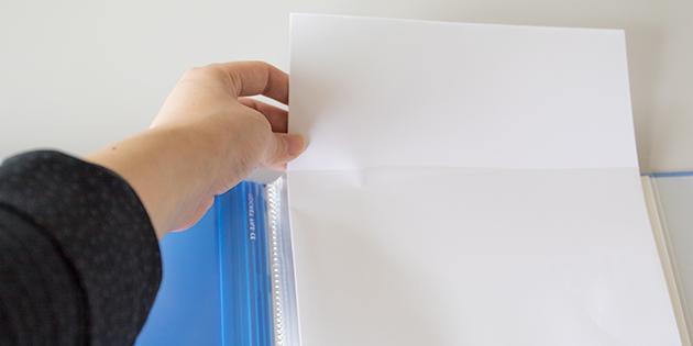ポケット式クリアファイルの写真
