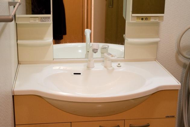 アフター写真1:洗面台の上