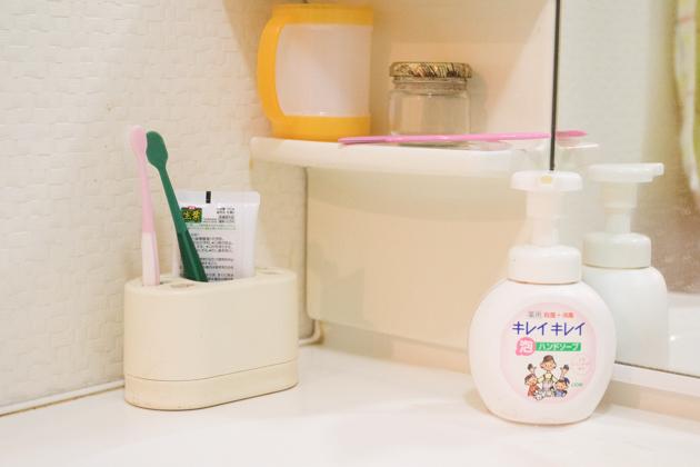 ビフォー写真:歯ブラシ立て