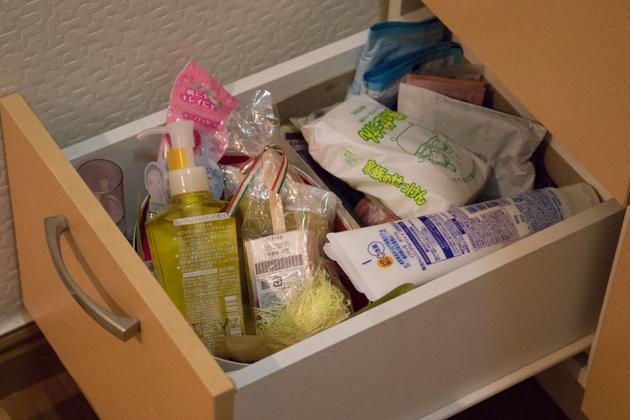 ビフォー写真:洗面台の引き出し(下段)