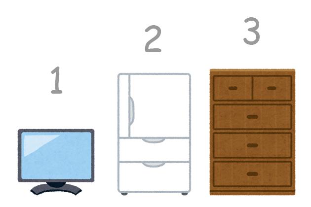 テレビ・冷蔵庫・タンスのイラスト