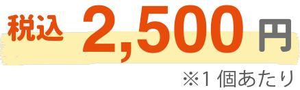 税込2,500円(1個あたり)