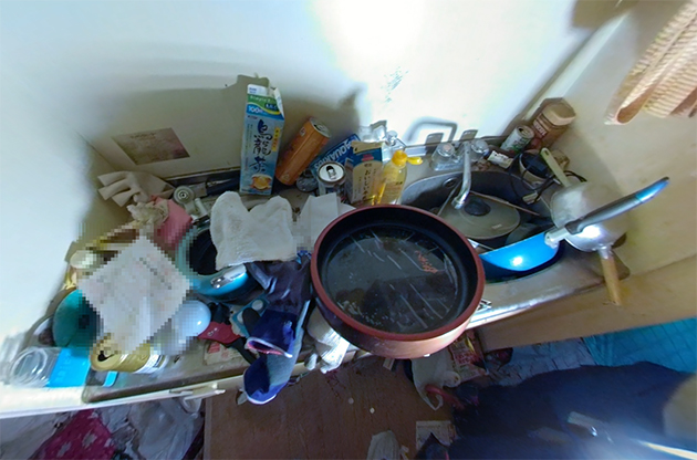 キッチンのビフォー写真