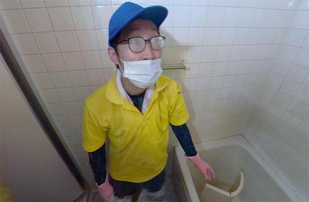 トイレ、お風呂を掃除している写真