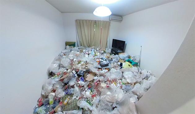 カサカサ系汚部屋のビフォー写真