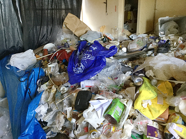 ネトネト系汚部屋のビフォー写真