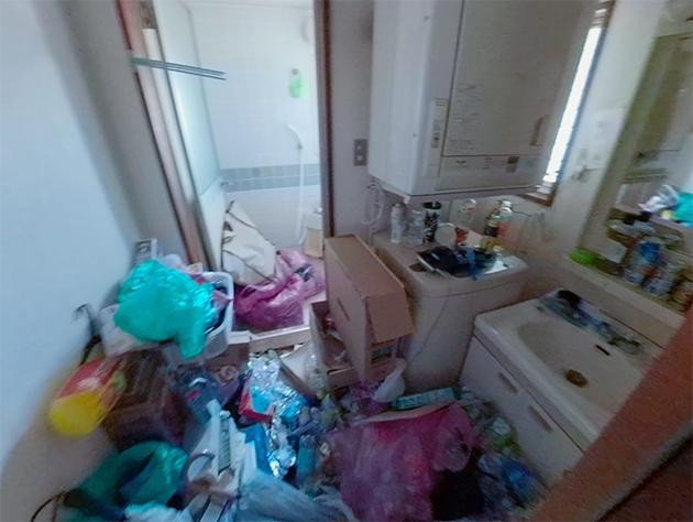 洗面所のビフォー写真