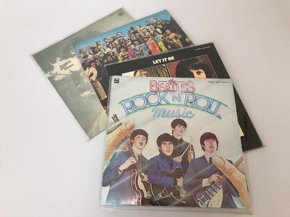 ビートルズのLPレコード盤の写真