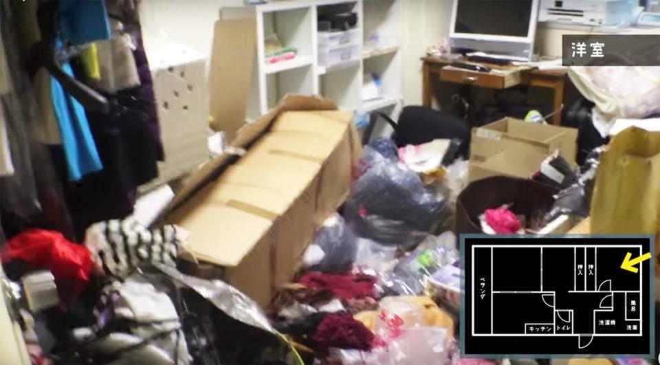 ゴミ屋敷になったマンションのビフォー写真