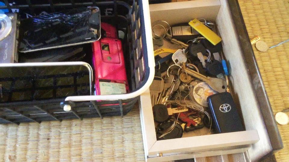 鍵と携帯の写真