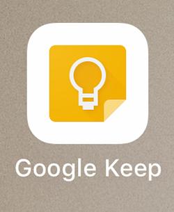 スマホにインストールしたGoogle Keepの写真1