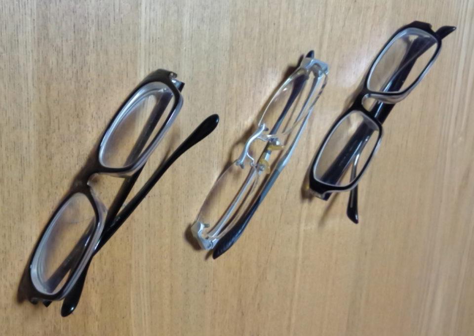 古いメガネの写真