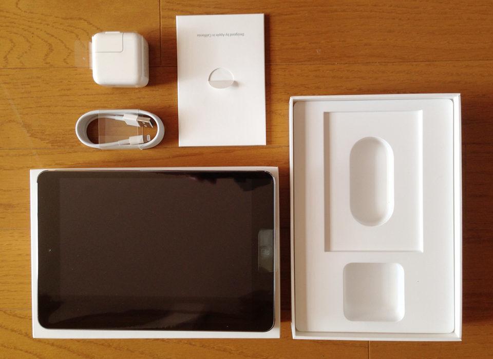 iPad miniを開封したところの写真