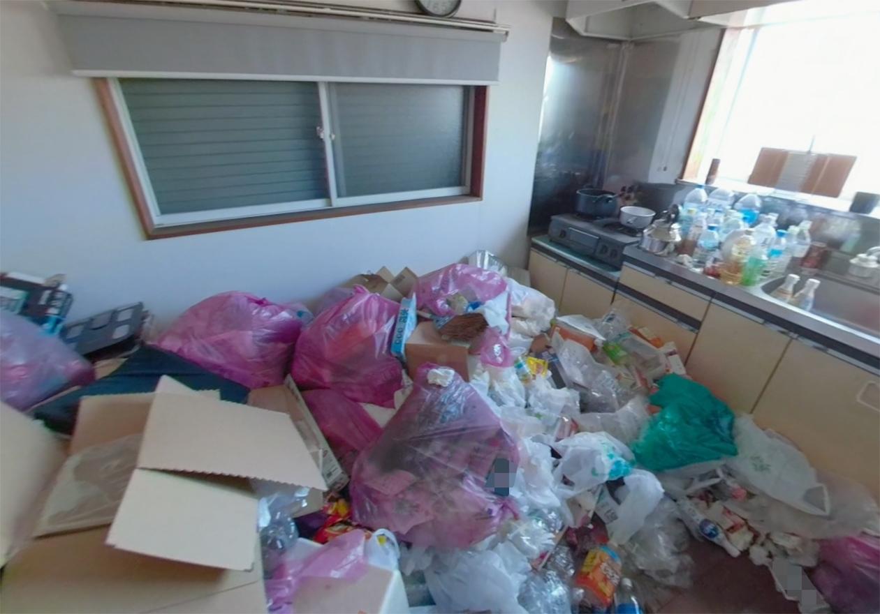 ゴミがたくさんある写真