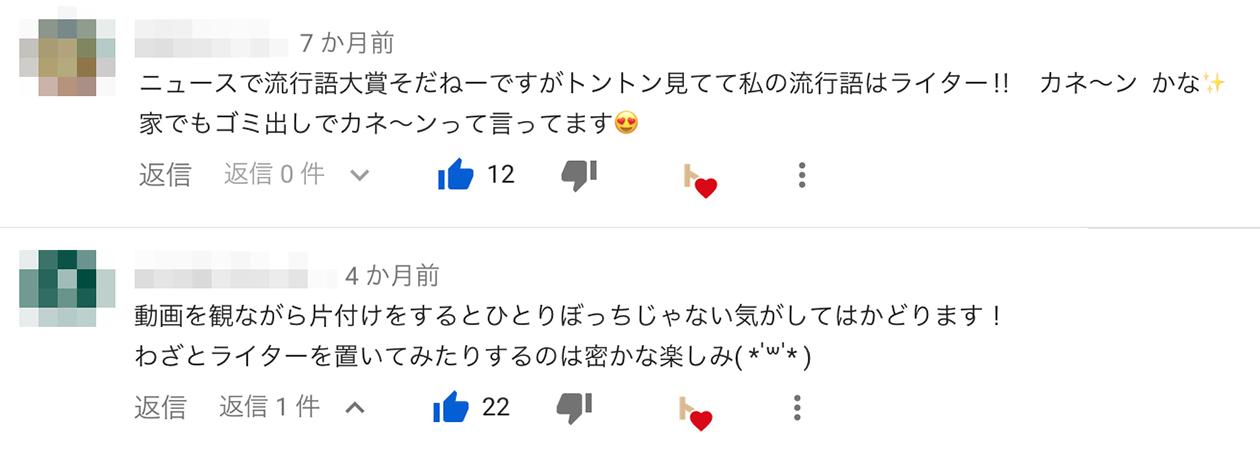 YouTubeのコメントの写真3