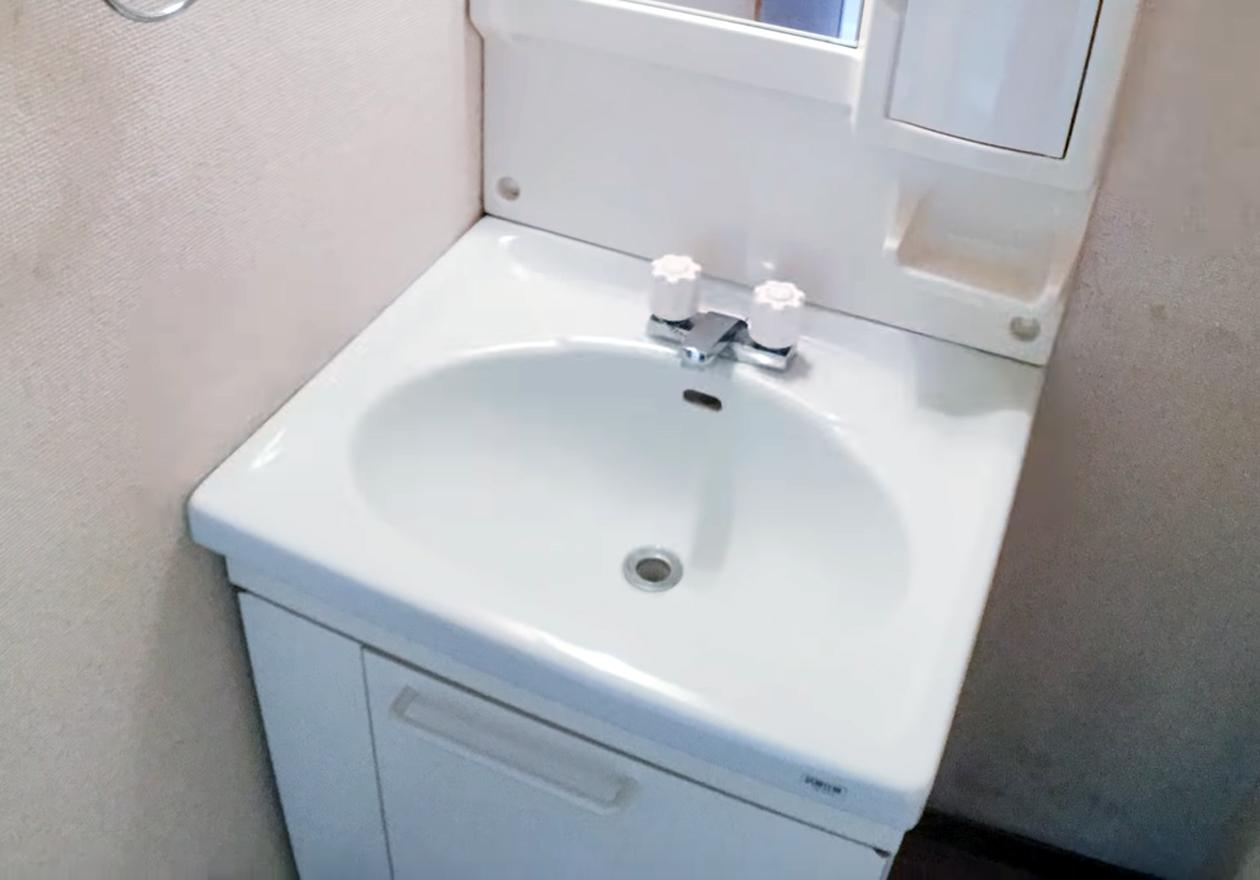 5年分の缶と可燃ゴミで溢れたゴミ屋敷!作業後、洗面所の画像