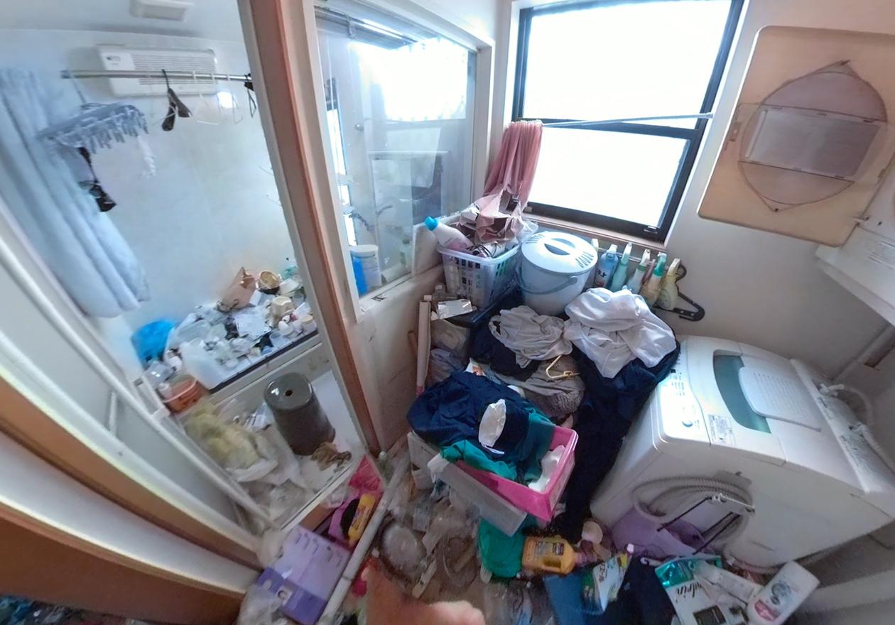 ゴミ屋敷のお風呂の写真