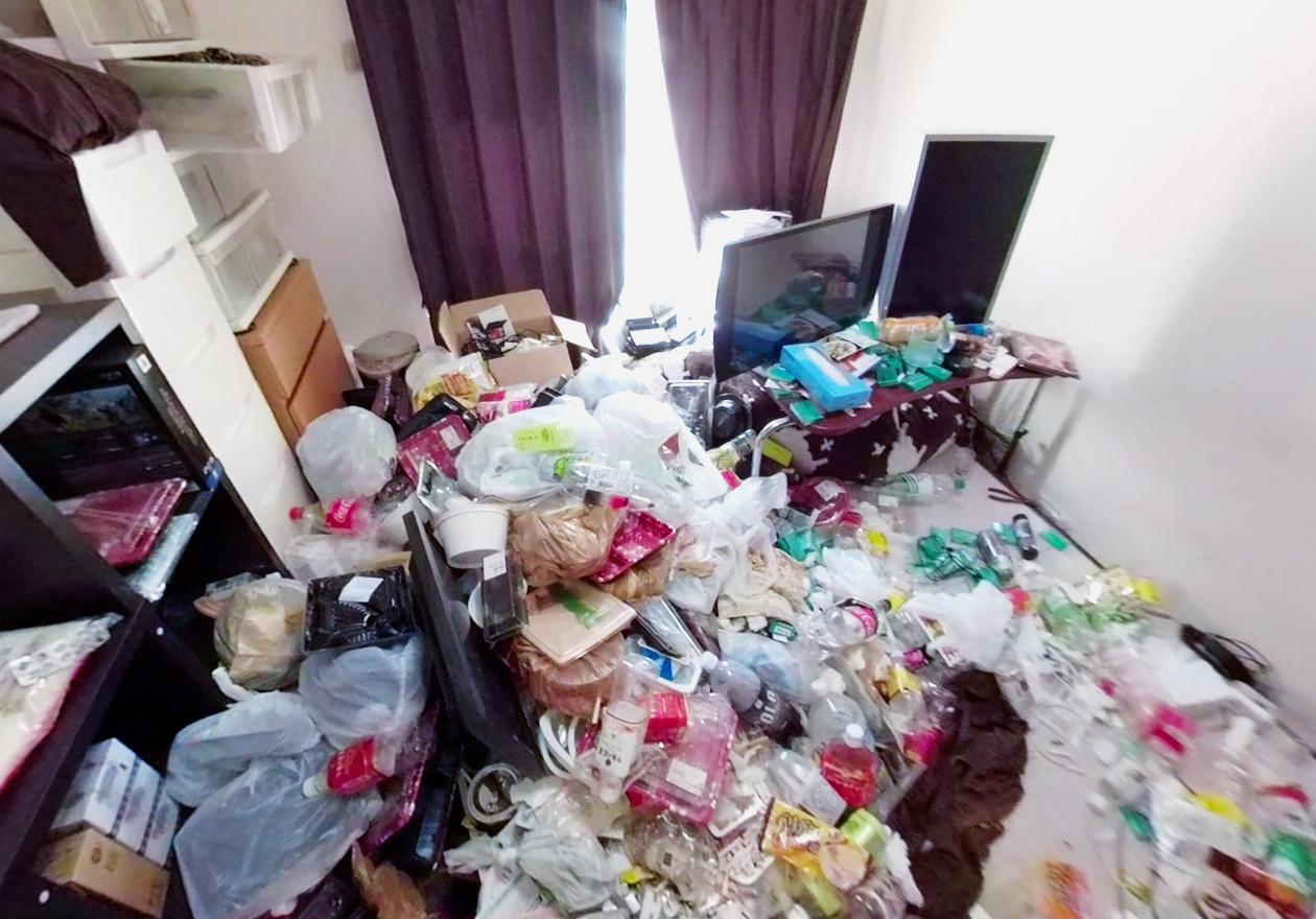 ゴミ屋敷・汚部屋(男性の部屋)の画像