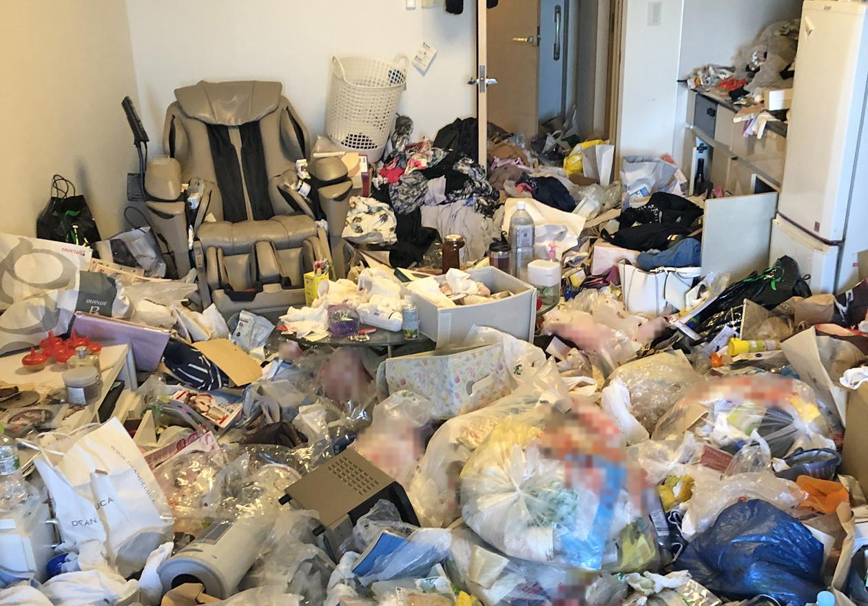 ゴミ屋敷のリビングの写真1