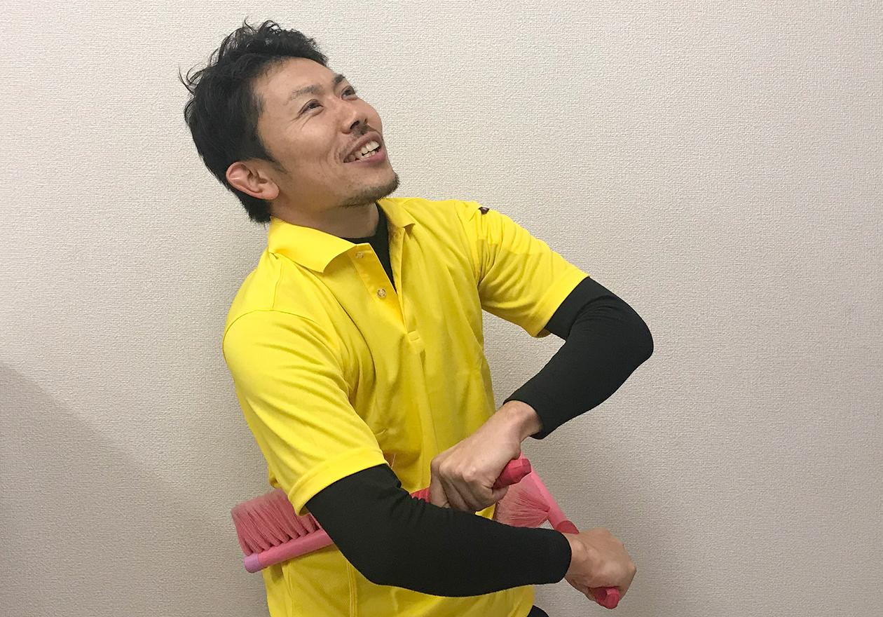 兼子君が自分に磨きをかけている写真