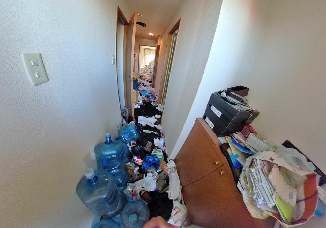 玄関からみたお部屋の様子
