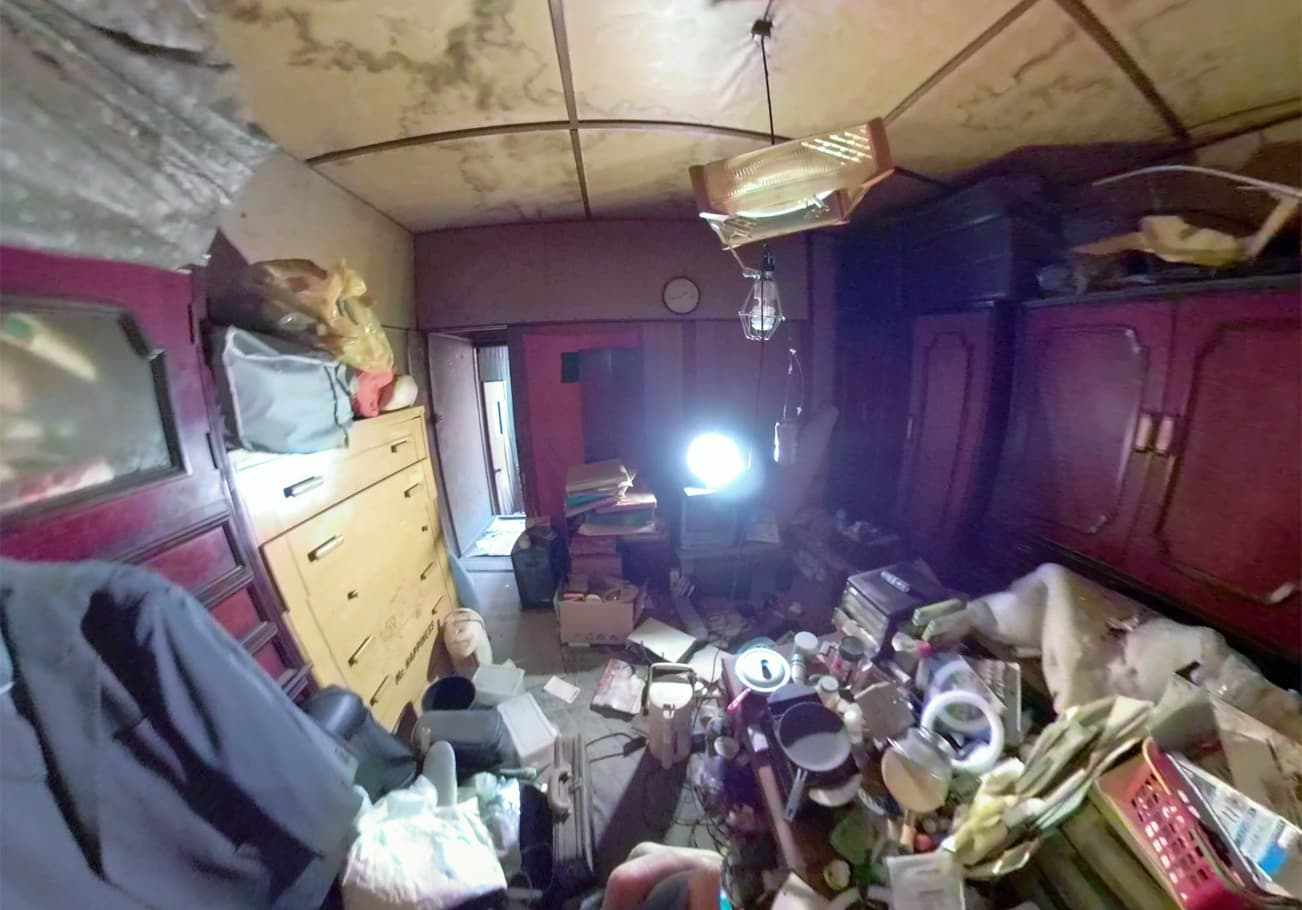 瀬戸市3DK ゴミ屋敷片付け前のお部屋の様子