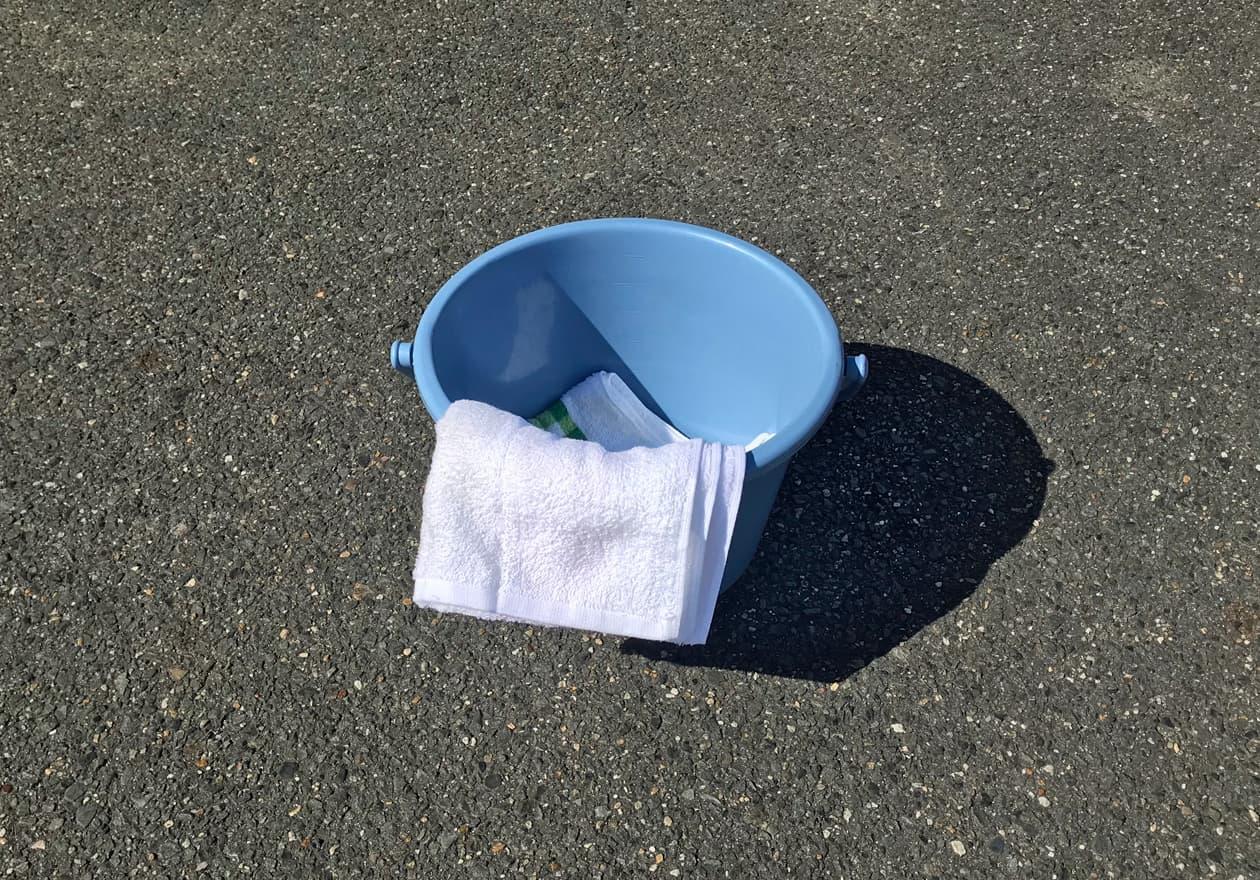バケツ、雑巾の写真