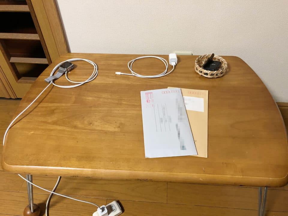 未処理書類の置き場所の写真