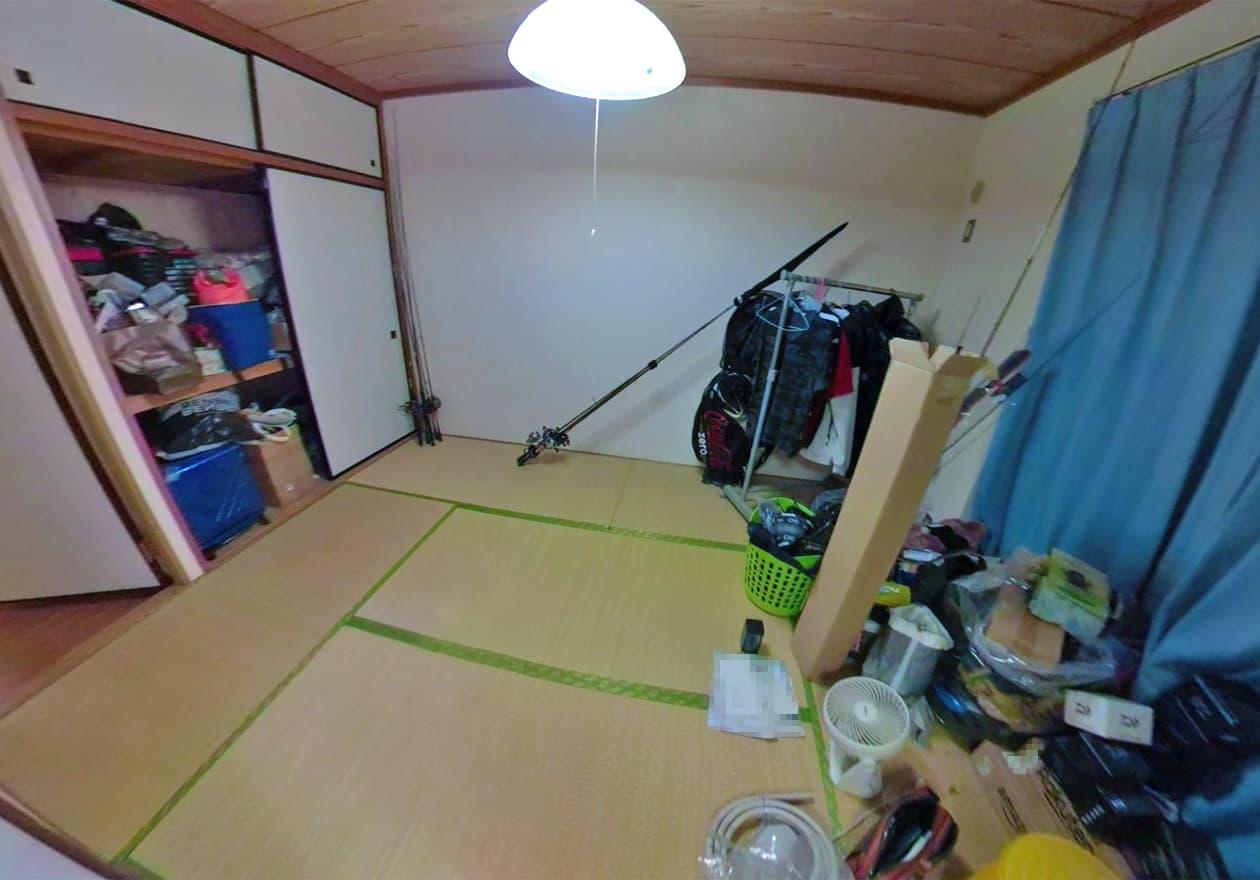 片付け後の寝室の様子