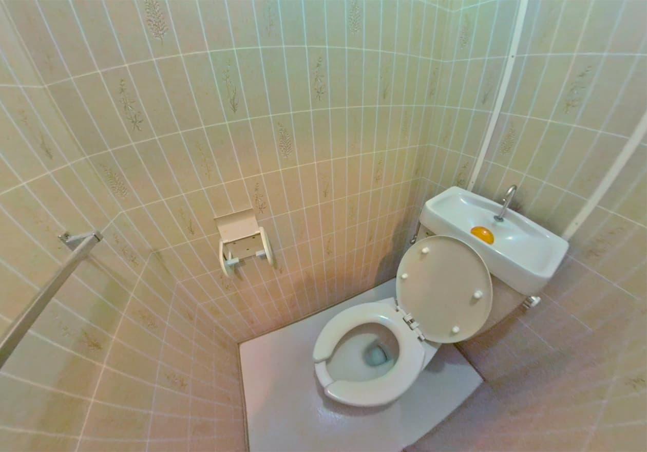 清掃後のトイレの様子