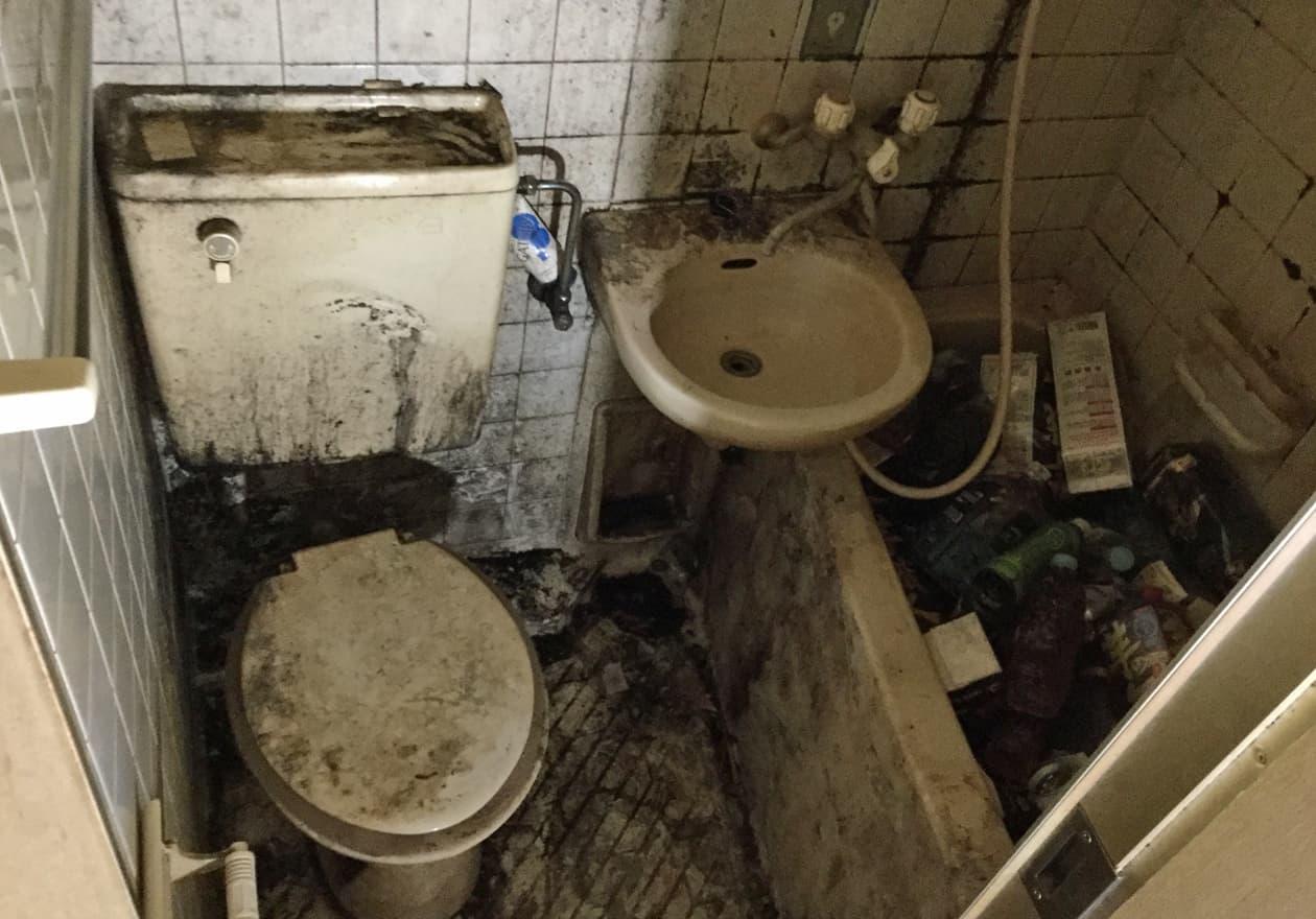 片付け前のお風呂・トイレの様子