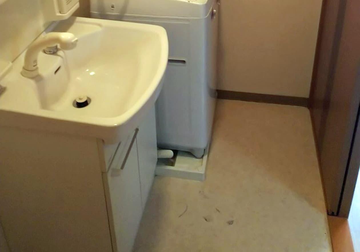 清掃後の洗面所の様子